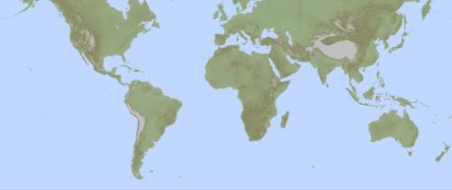Hoogtekaarten - Vloerlamp van de wereld ...